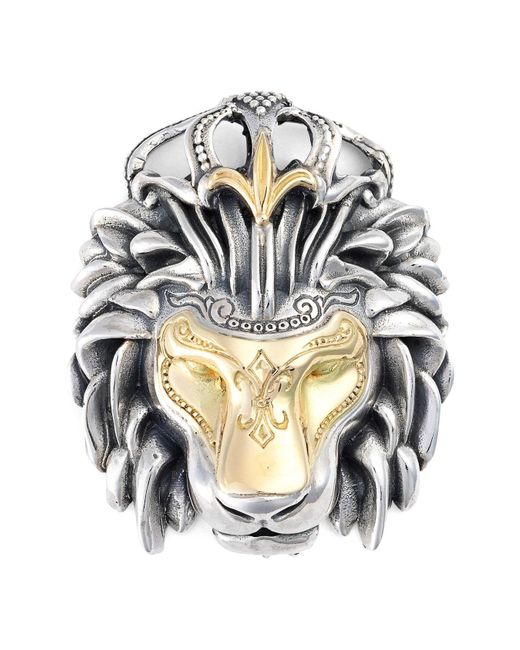 Konstantino - Multicolor 'minos' Lion Head Pendant for Men - Lyst