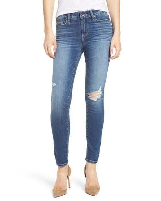 PAIGE - Blue Transcend Vintage - Verdugo Ankle Skinny Jeans - Lyst