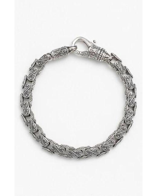 Konstantino - Metallic 'classics' Carved Bracelet for Men - Lyst