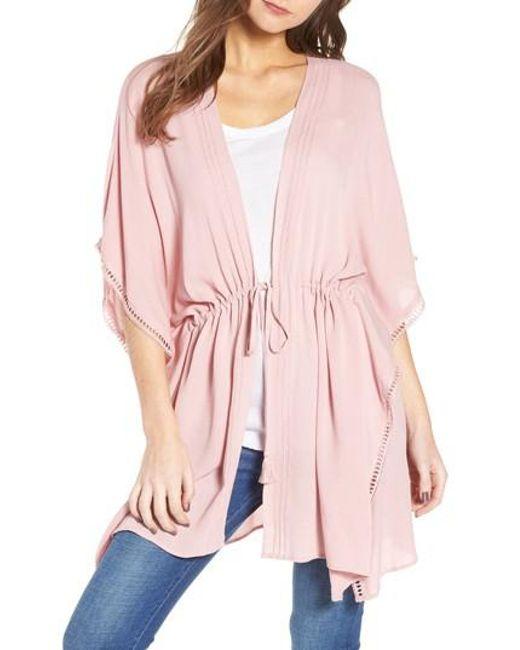 Treasure & Bond - Pink Shimmer Kimono - Lyst