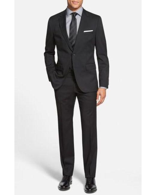 BOSS - Black 'johnstons/lenon' Trim Fit Wool Suit for Men - Lyst