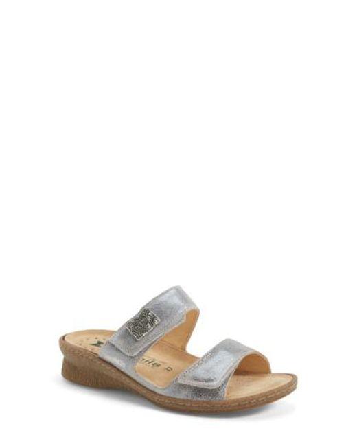 Mephisto   'Bregalia' Metallic Leather Sandal   Lyst