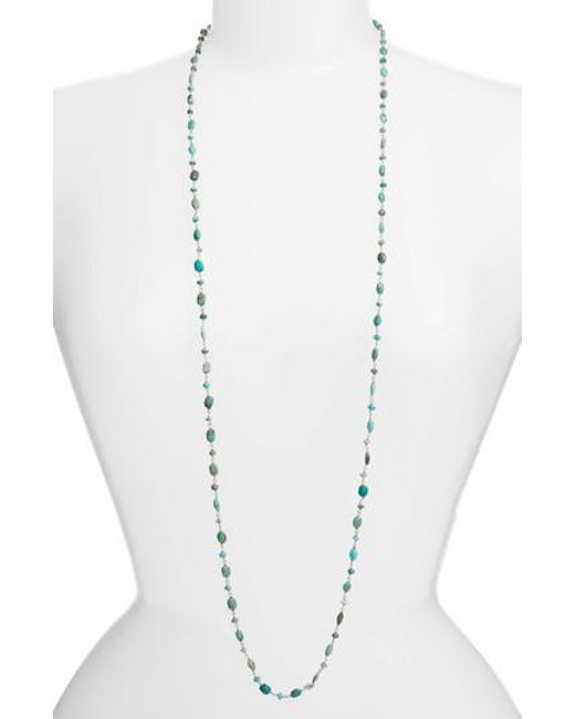 Ela Rae - Blue The Diana Oval Turquoise Necklace - Lyst