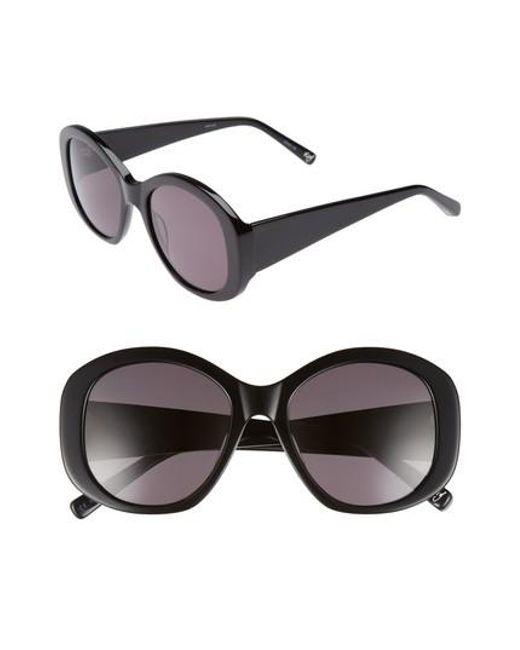 Elizabeth and James - Black Kay 54mm Round Sunglasses - Lyst