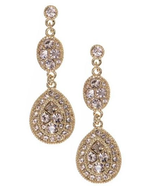 Givenchy   Metallic Crystal Drop Earrings   Lyst