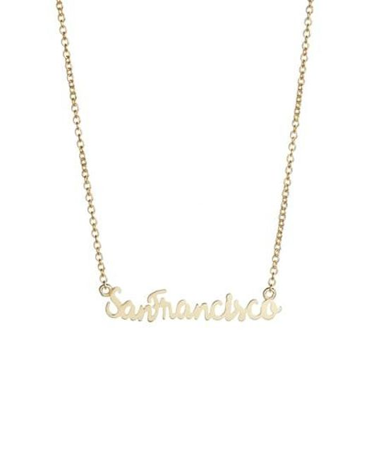 Argento Vivo - Metallic San Francisco Pendant Necklace - Lyst