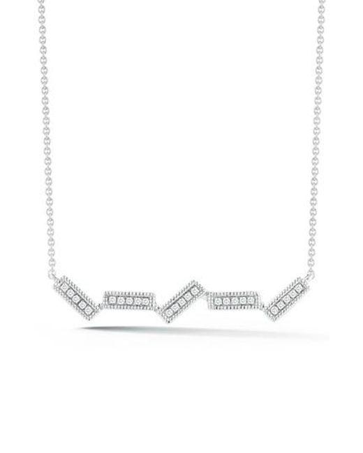 Dana Rebecca | Metallic Sylvie Rose Five-bar Diamond Pendant Necklace | Lyst