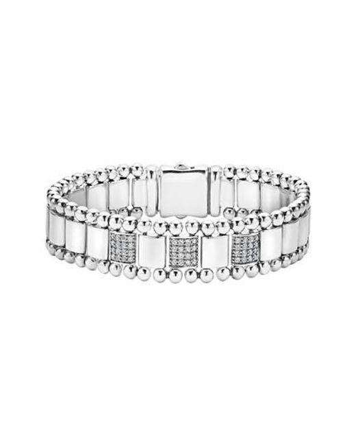 Lagos | Metallic Caviar Spark Diamond Bracelet | Lyst