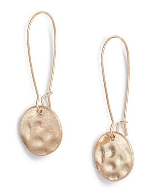 Treasure & Bond - Metallic Organic Disc Threaded Drop Earrings - Lyst