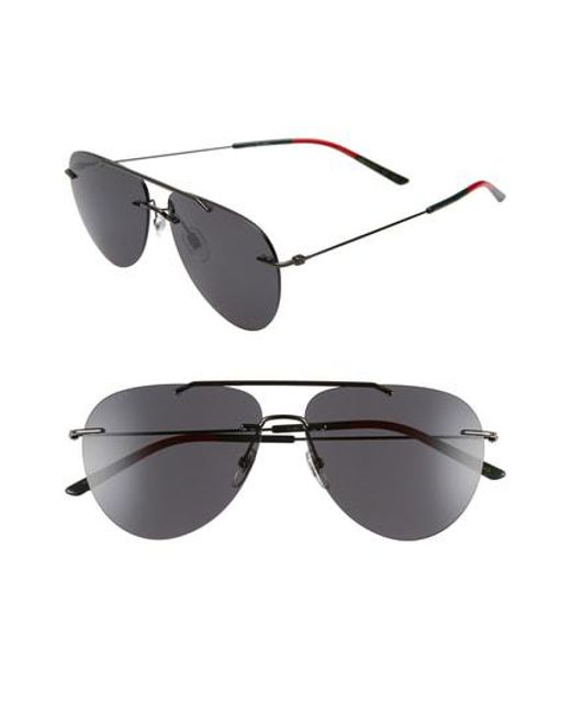 33475c46f66 Gucci - Multicolor 60mm Rimless Aviator Sunglasses - for Men - Lyst