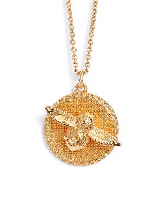 Olivia Burton - Metallic Bee Pendant Necklace - Lyst