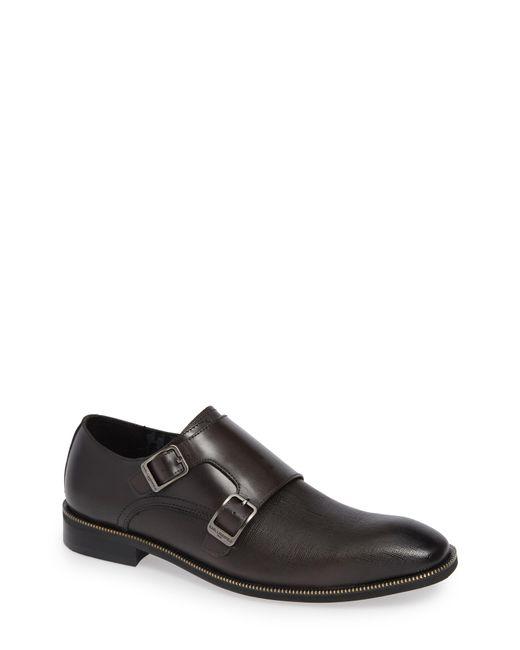 Karl Lagerfeld - Gray Double Strap Monk Shoe for Men - Lyst