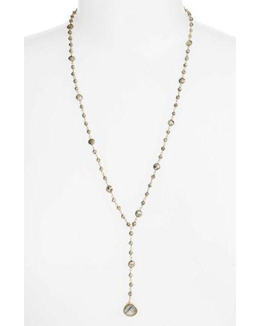 Ela Rae - Metallic Yaeli Satellite 24 Semiprecious Stone Y-necklace - Lyst
