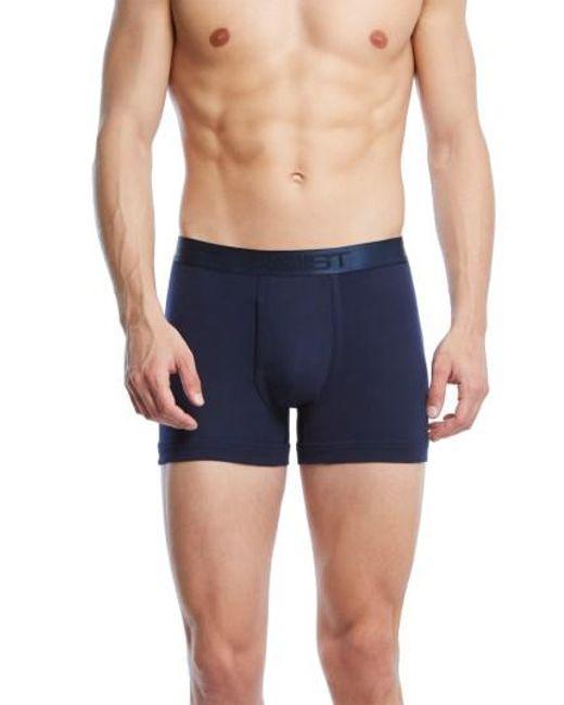 2xist - Blue Pima Cotton Boxer Briefs for Men - Lyst