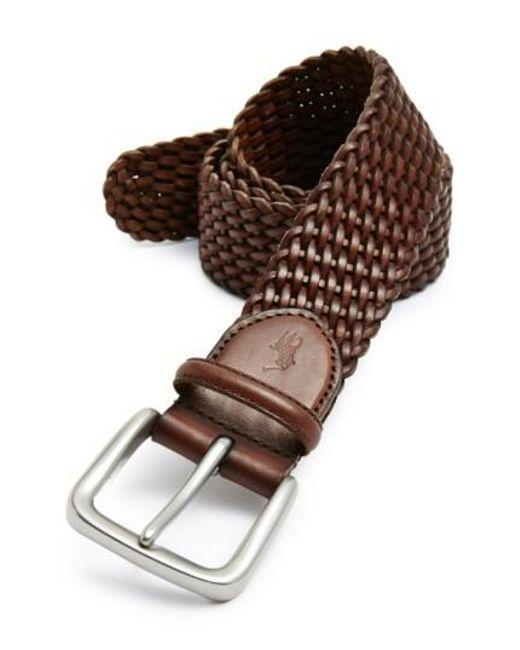 Polo Ralph Lauren - Brown Braided Leather Belt for Men - Lyst