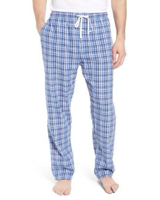 Polo Ralph Lauren - Blue Walker Plaid Cotton & Linen Pajama Pants for Men - Lyst