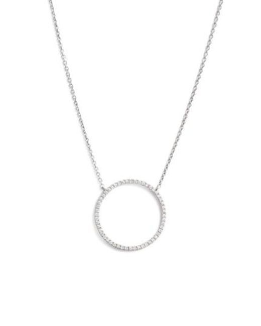 Bony Levy | Metallic 'simple Obsessions' Circle Pendant Necklace (nordstrom Exclusive) | Lyst