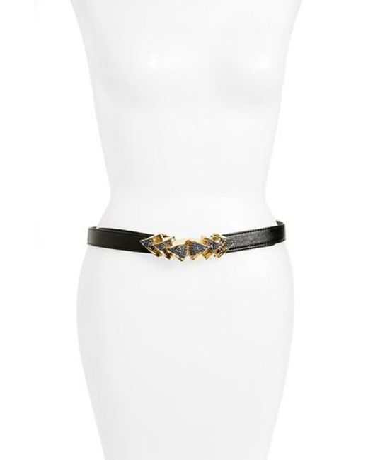 Raina | Black Venice Leather Belt | Lyst