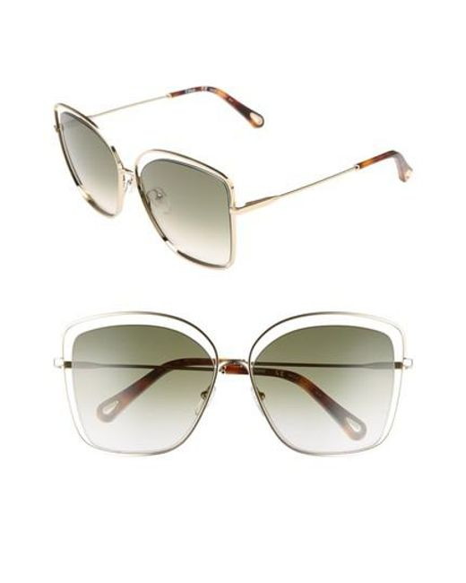 double frame sunglasses - Metallic Chloé mjewjkFP