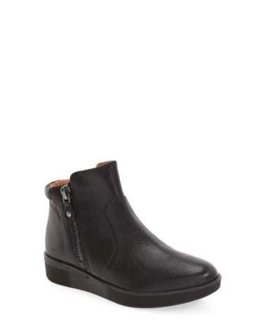 Gentle Souls - Black Harper Leather Sneaker Boots - Lyst