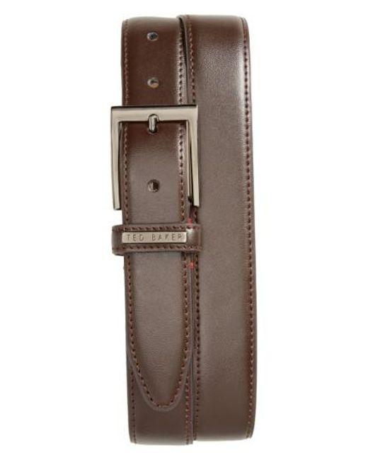 Ted Baker | Brown Lizwiz Leather Belt for Men | Lyst