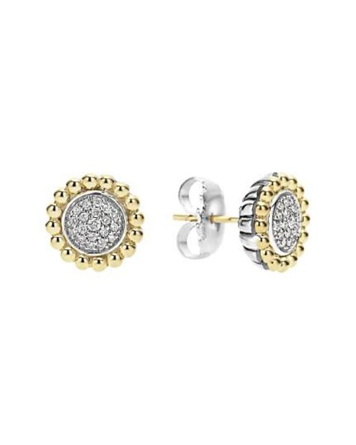 Lagos - Metallic Diamond Caviar Stud Earrings - Lyst
