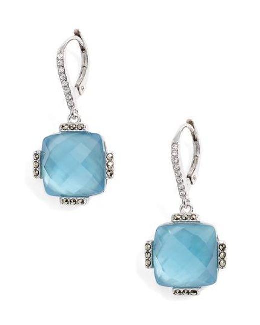 Judith Jack - Blue Doublet Drop Earrings - Lyst
