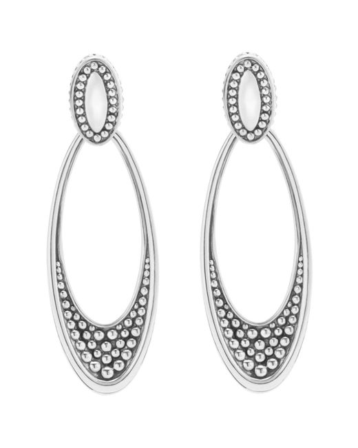 Lagos - Metallic 'signature Caviar' Omega Drop Earrings - Lyst