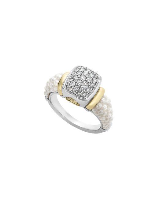 Lagos - Metallic 'caviar' Diamond Ring - Lyst