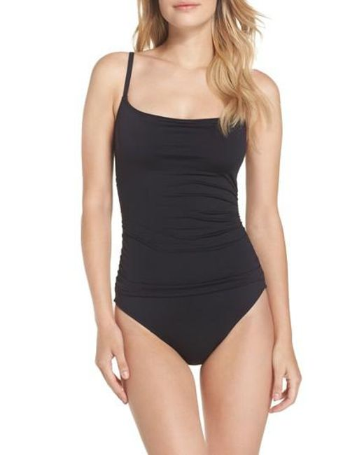 La Blanca | Black 'island Goddess' One-piece Swimsuit | Lyst