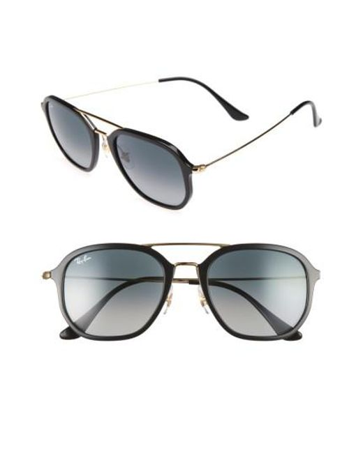 Ray-Ban | Metallic 52mm Square Sunglasses | Lyst