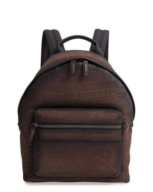 Ferragamo - Black Firenze Leather Backpack - - Lyst