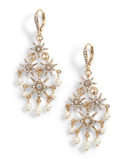 Jenny Packham | Metallic Star Chandelier Drop Earrings | Lyst
