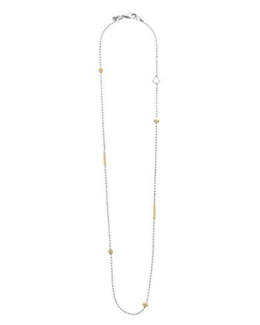 Lagos - Metallic 'caviar Icon' Chain Necklace - Lyst