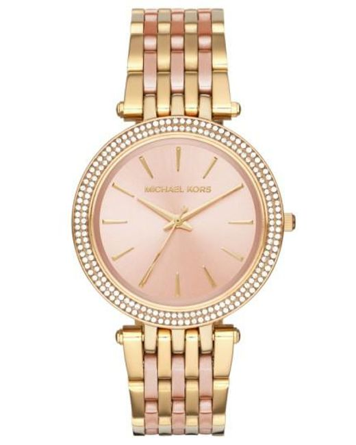 Michael Kors | Metallic 'darci' Round Bracelet Watch | Lyst