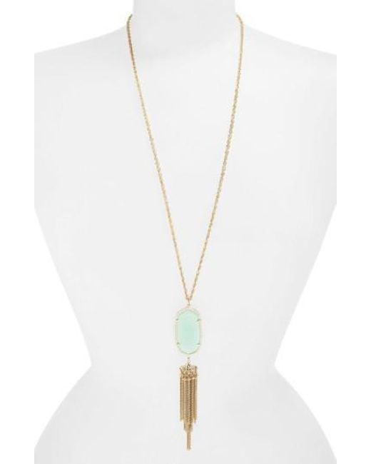 Kendra Scott   Metallic 'rayne' Stone Tassel Pendant Necklace   Lyst