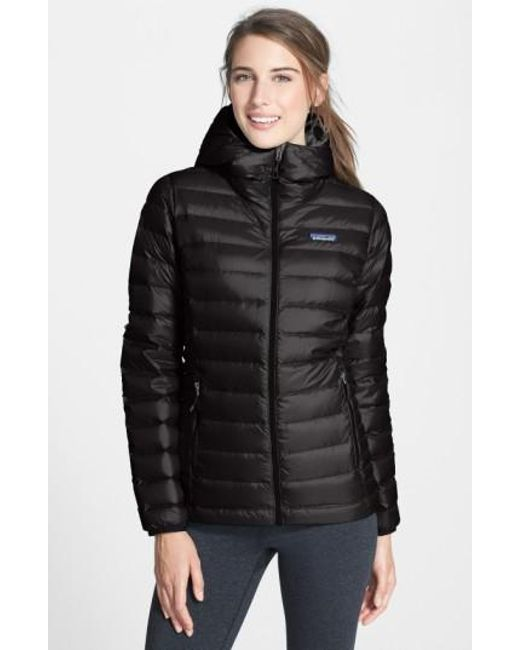 Patagonia - Black Quilted Water Resistant Down Coat - Lyst