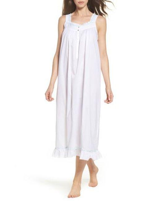 Lyst - Eileen west Cotton Lawn Ballet Nightgown in White