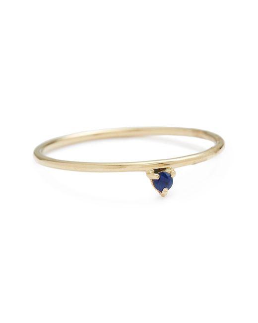 Wwake - Metallic One Step Sapphire Ring - Lyst