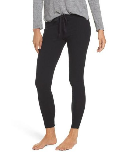Chaser | Black Love Ribbed Leggings | Lyst