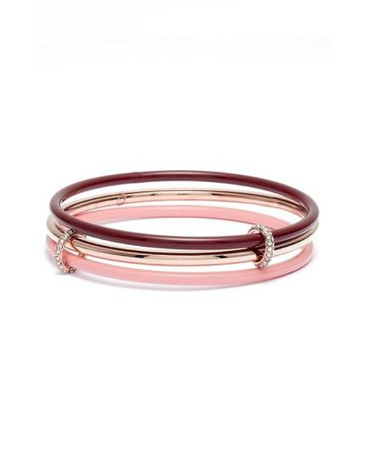 Kate Spade - Red In A Flash Set Of Three Bangles - Lyst