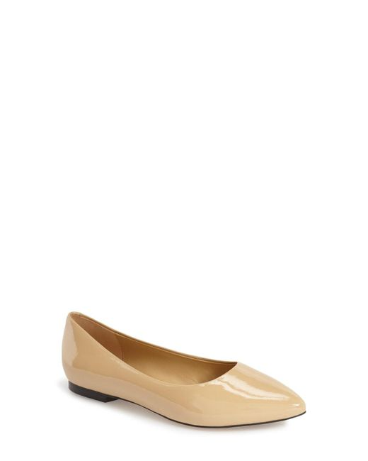 Trotters - Purple Estee Pointed-Toe Suede Ballet Flats - Lyst