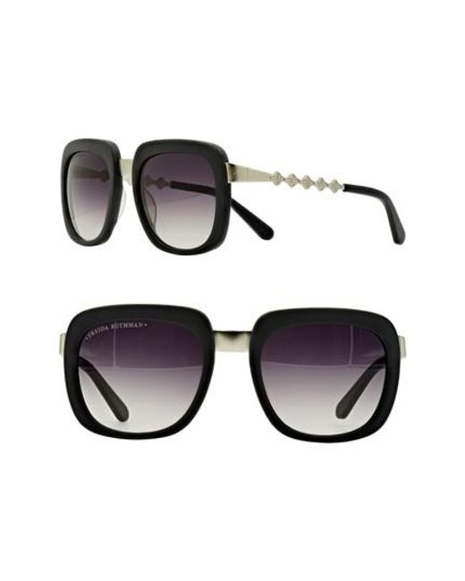 Freida Rothman | Black 'serena' 57mm Square Sunglasses | Lyst