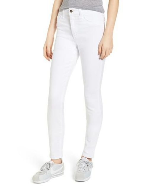 Joe's - White Charlie High Waist Skinny Jeans - Lyst