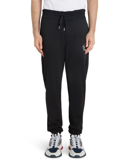 Moncler Black Logo Stamp Sweatpants for men