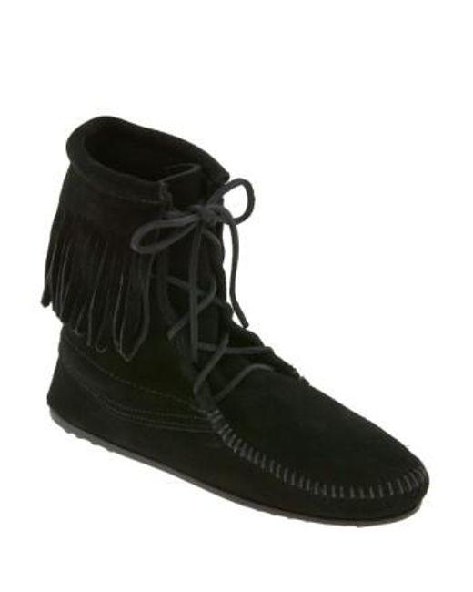 Minnetonka | Black 'tramper' Boot | Lyst