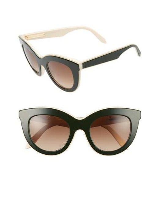 Victoria Beckham   Brown 49mm Cat Eye Sunglasses   Lyst