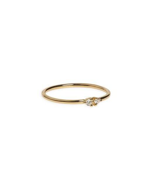 Wwake - Metallic Double Emerald Ring (nordstrom Exclusive) - Lyst