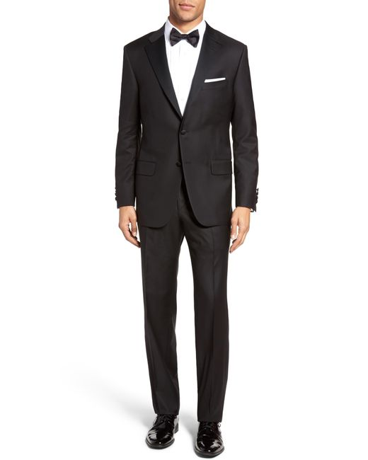 Hickey Freeman Black Beacon Classic Fit Wool Tuxedo for men
