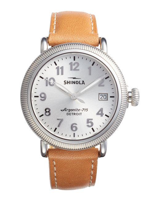 Shinola - Metallic The Runwell Leather Strap Watch - Lyst
